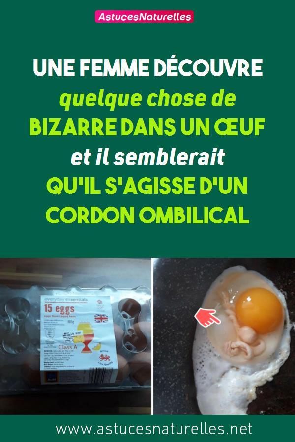 Une femme découvre quelque chose de bizarre dans un œuf et il semblerait qu'il s'agisse d'un cordon ombilical