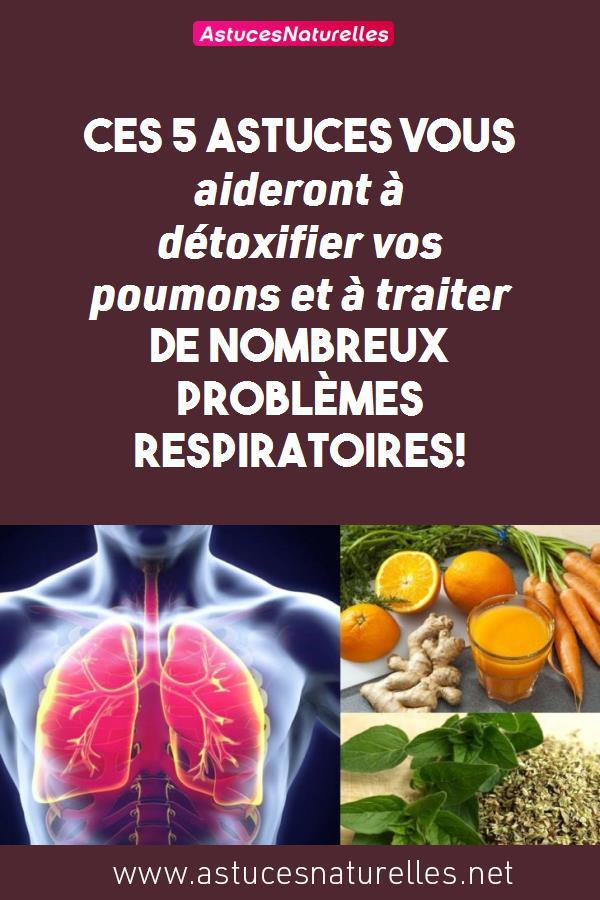 Ces 5 astuces vous aideront à détoxifier vos poumons et à traiter de nombreux problèmes respiratoires!