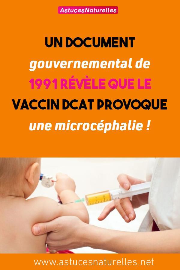Un document gouvernemental de 1991 révèle que le vaccin DCaT provoque une microcéphalie !