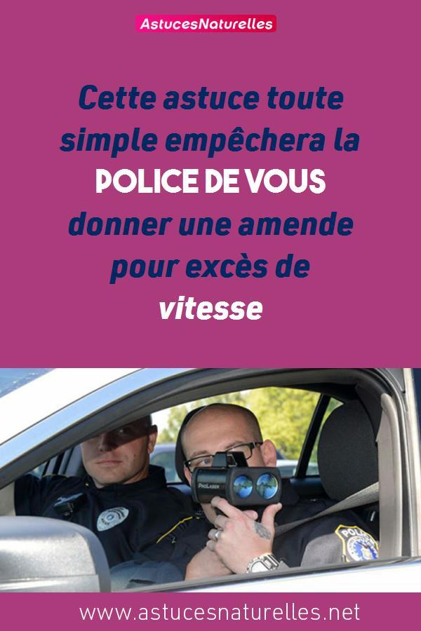 Cette astuce toute simple empêchera la police de vous donner une amende pour excès de vitesse