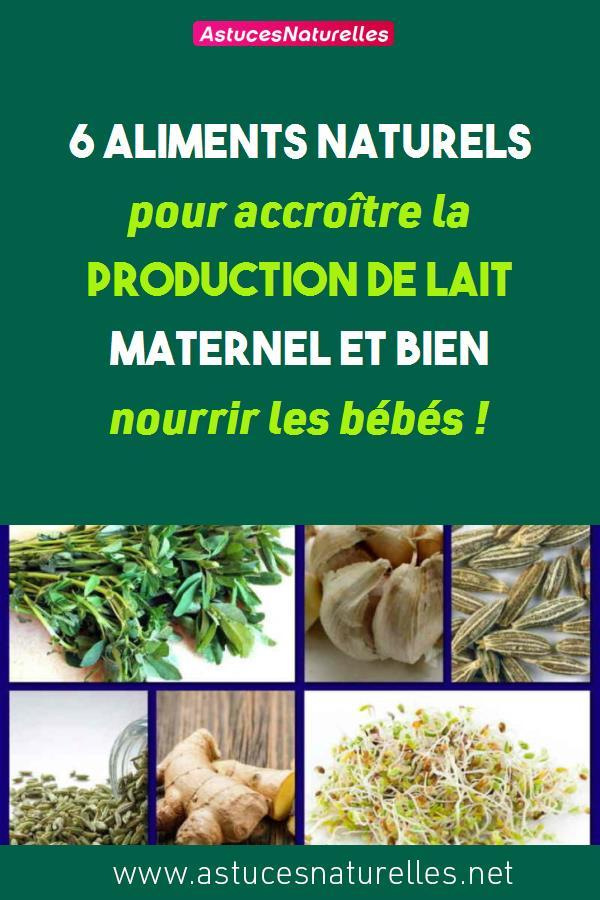 6 aliments naturels pour accroître la production de lait maternel et bien nourrir les bébés !