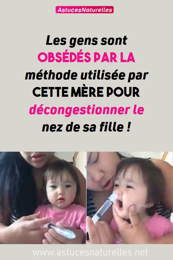 Les gens sont obsédés par la méthode utilisée par cette mère pour décongestionner le nez de sa fille !