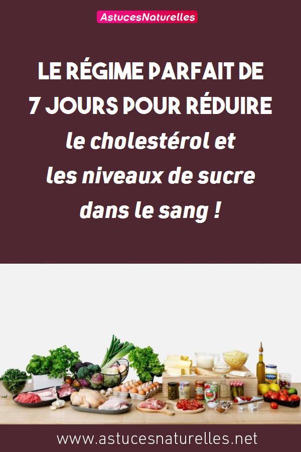 Le régime parfait de 7 jours pour réduire le cholestérol et les niveaux de sucre dans le sang !