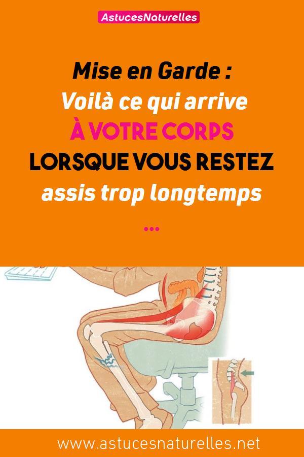 Mise en Garde : Voilà ce qui arrive à votre corps lorsque vous restez assis trop longtemps …
