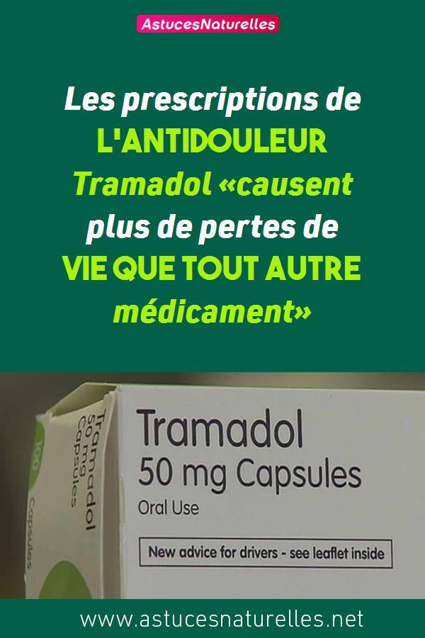 Les prescriptions de l'antidouleur Tramadol «causent plus de pertes de vie que tout autre médicament»