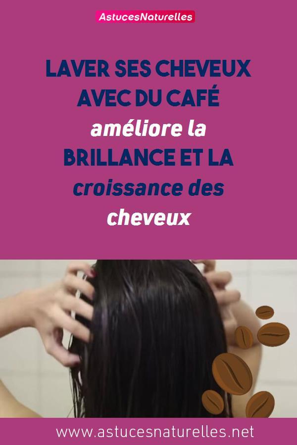 Laver ses cheveux avec du café améliore la brillance et la croissance des cheveux