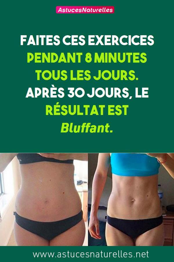 Faites Ces Exercices Pendant 8 Minutes Tous Les Jours. Après 30 Jours, Le Résultat Est Bluffant.
