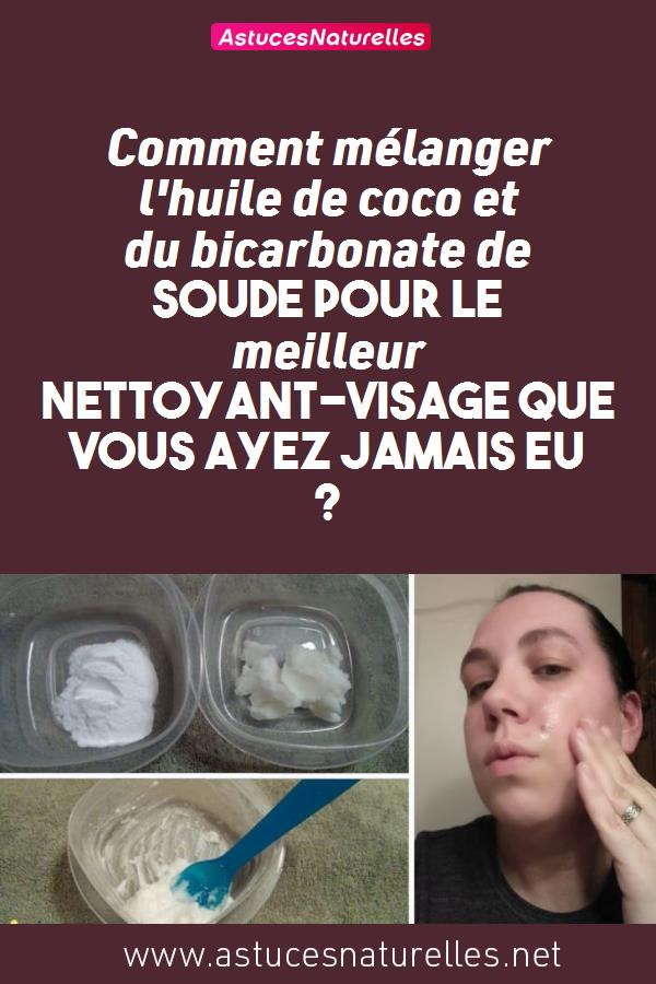 Comment mélanger l'huile de coco et du bicarbonate de soude pour le meilleur nettoyant-visage que vous ayez jamais eu ?