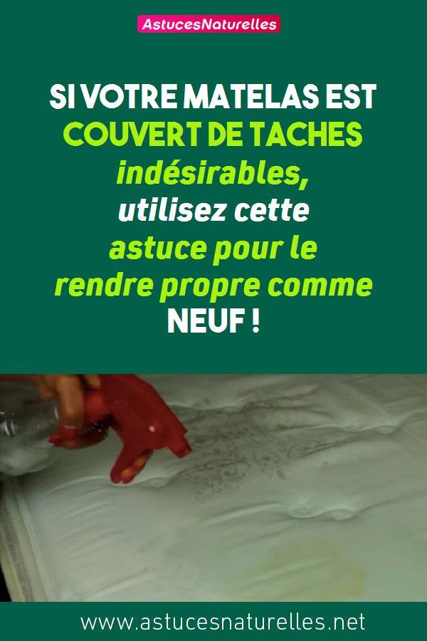 Si votre matelas est couvert de taches indésirables, utilisez cette astuce pour le rendre propre comme neuf !