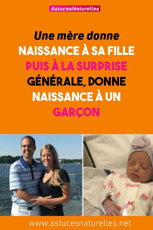 Une mère donne naissance à sa fille puis à la surprise générale, donne naissance à un garçon