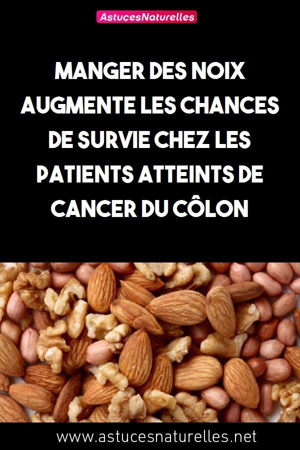 Manger des noix augmente les chances de survie chez les patients atteints de cancer du côlon