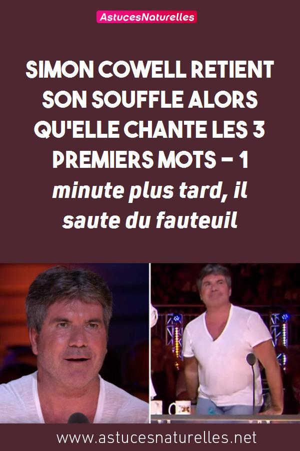 Simon Cowell retient son souffle alors qu'elle chante les 3 premiers mots – 1 minute plus tard, il saute du fauteuil