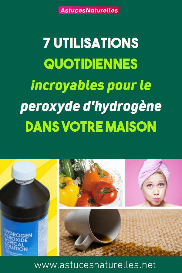 7 utilisations quotidiennes incroyables pour le peroxyde d'hydrogène dans votre maison