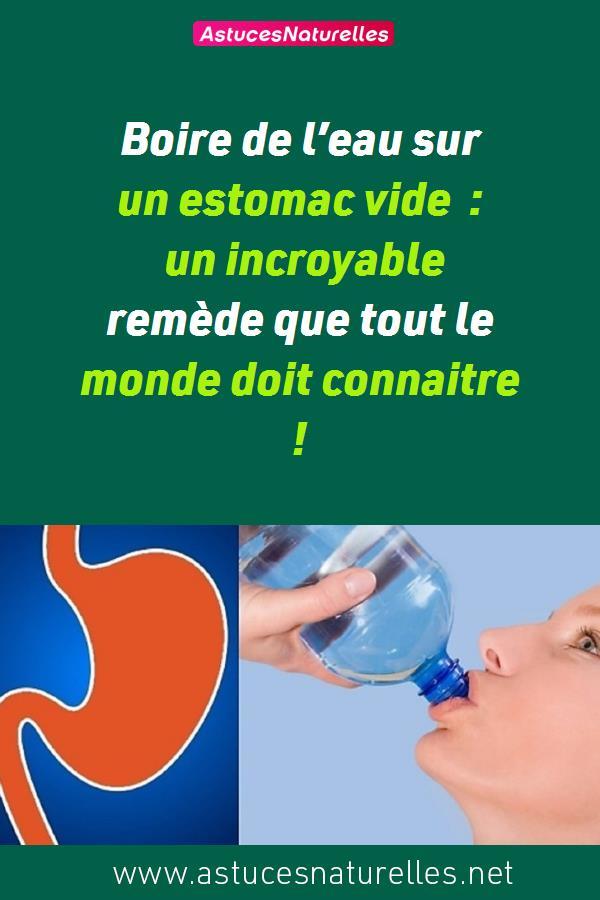 Boire de l'eau sur un estomac vide : un incroyable remède que tout le monde doit connaitre !