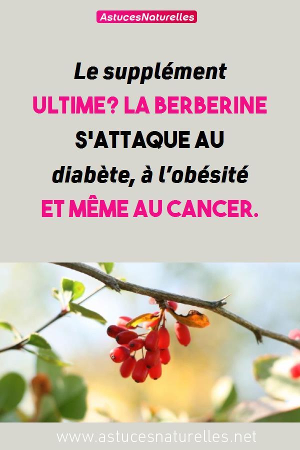Le supplément ultime? La berberine s'attaque au diabète, à l'obésité et même au cancer.