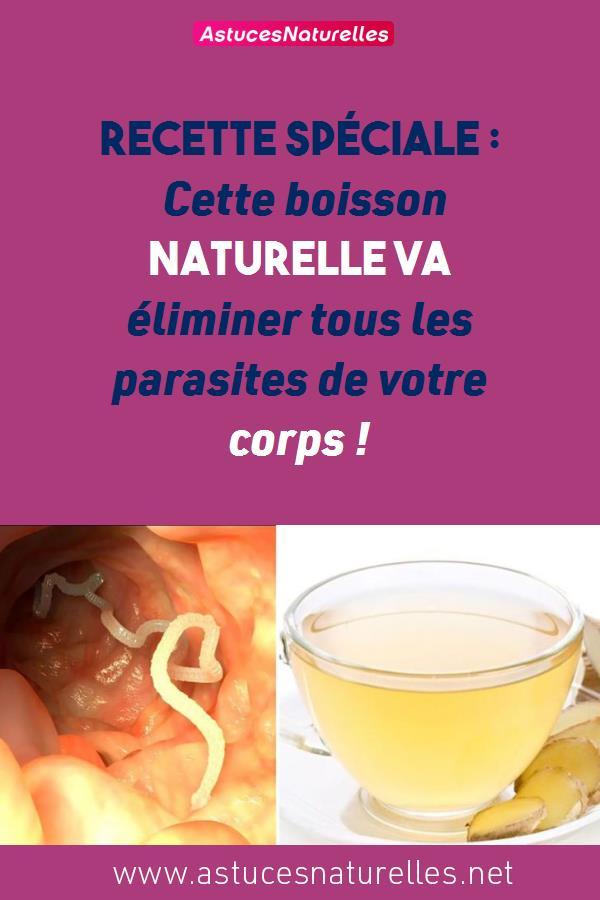 Recette Spéciale : Cette boisson naturelle va éliminer tous les parasites de votre corps !