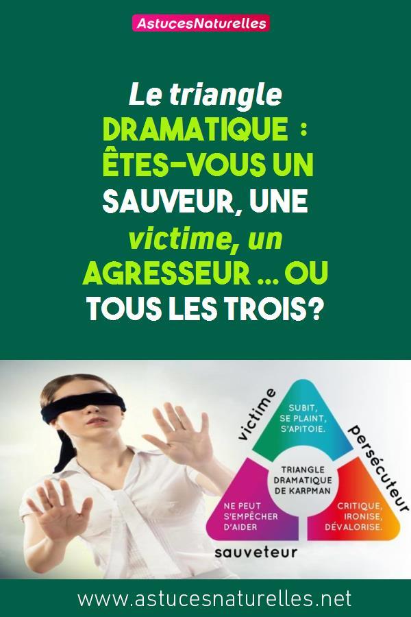 Le triangle dramatique : Êtes-vous un sauveur, une victime, un agresseur … ou tous les trois?