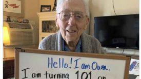 Confiné chez lui pour ses 101 ans, il demande 101 000 likes sur sa photo