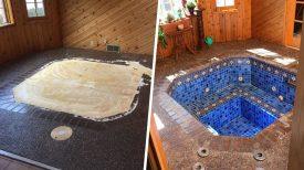 Un couple achète une nouvelle maison et découvre un bain romain caché sous le sol