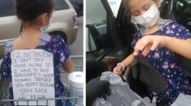 La maman fait ses courses avec sa fille et tout le monde la regarde mal : à 5 ans, elle ne peut pas rester seule à la maison, malgré le Covid-19