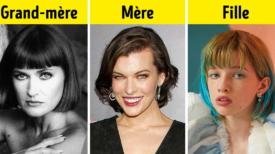 10 Dynasties célèbres dont les femmes ont évolué à la perfection sur 3 générations