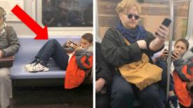 Le garçon refuse de retirer ses jambes des sièges : un inconnu s'assied dessus pour lui donner une leçon