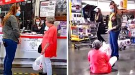 Une femme s'assoit par terre dans un magasin et fait une 'crise de colère' parce qu'on lui demande de porter un masque