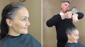 """"""" J'en ai marre de mes cheveux gris """" Elle change sa coupe pour une coupe courte et audacieuse"""