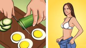 Le régime concombre et oeufs est en train de faire le tour du monde : il permet de perdre 4 Kg en 1 semaine
