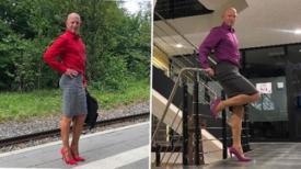 Ce père marié de 3 enfants porte des jupes et des talons aiguilles pour travailler tous les jours
