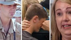 Un garçon perd son père soldat et, 15 ans plus tard, un étranger à la porte dit à la mère et au fils de sortir