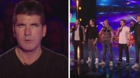 Simon est incrédule quand le boys band se présente – mais attendez-vous à ce qu'il ravale ses mots